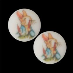 Novelty Button 5/8'' Peter Rabbit Radish