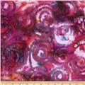 Indian Batik Swirl Purple/Multi