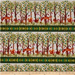 Jennifer Brinley Enchanted Forest Border Stripe Cream