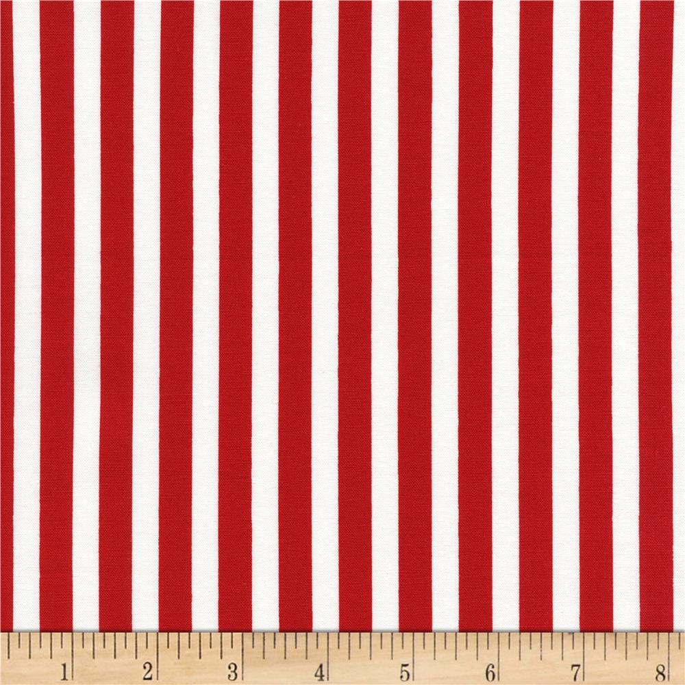 Timeless Treasures Tribeca Simple Stripe Red