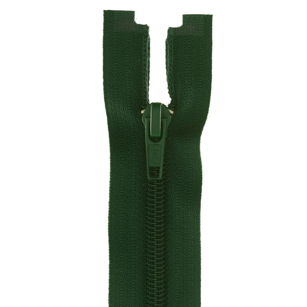 "Coats & Clark Coil Separating Zipper 14"" Forest Green"