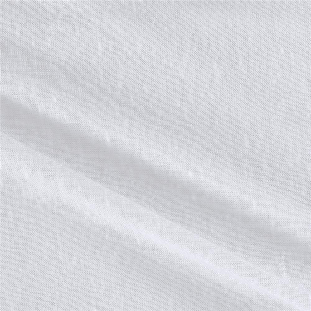 Tri Blend Jersey Knit White Fabric By The Yard