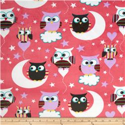 Minky Night Owls Multi Fabric