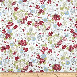 Glory Garden Large Floral White Fabric