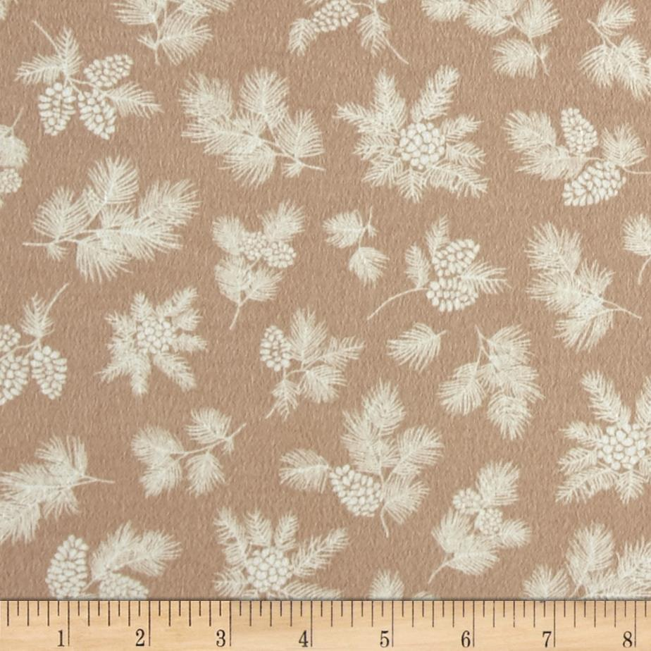 Chalk it up to Winter Flannel Pine Cones Taupe