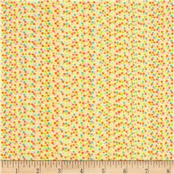 Aunt Polly's Flannel Colored Dots Yellow/Multi