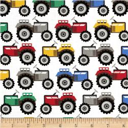 Michael Miller Retro Tractor Trails Primary Fabric