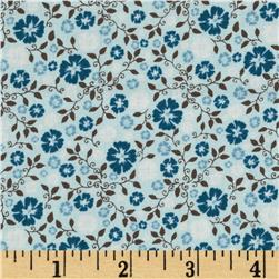 Riley Blake Round Up Floral Blue Fabric
