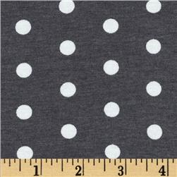 Dakota Jersey Knit Dots Charcoal/ Powder White