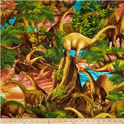 Timeless Treasures Dinosaurs Multi