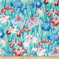 Snow Leopard Designs Floating World Japanese Irises Zest