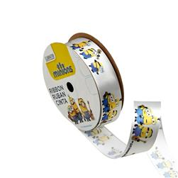 "7/8"" Minions Ribbon 3D Grey"
