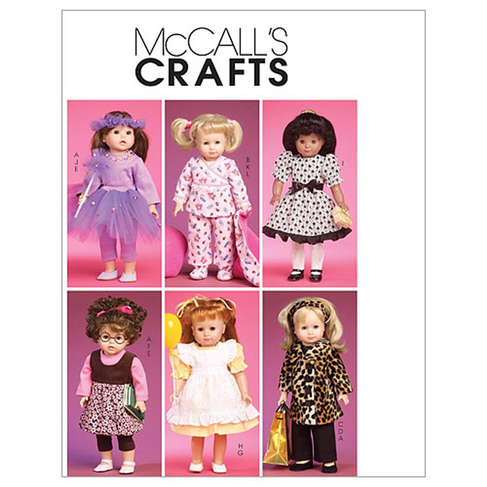 "McCall's Clothes and Accessories for 18"" Doll Pattern M6005 Size OSZ"