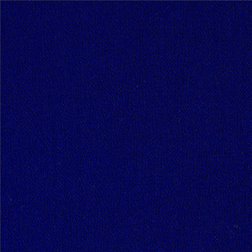 Designer Rayon Crepe Solid Royal Blue