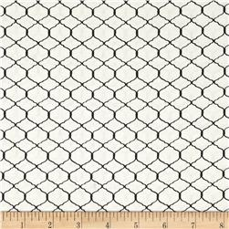 Bohemian Roosters Chicken Wire White