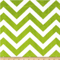 Minky Cuddle Chevron Jade/Snow Fabric