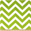 Minky Cuddle Chevron Lime/Snow
