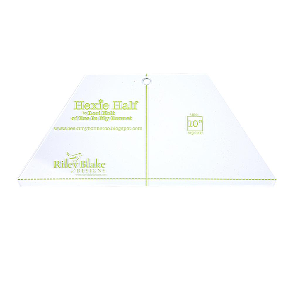 Lori Holt Hexie Half Ruler 10""