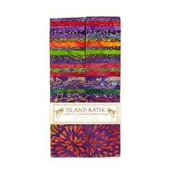 "Island Batik 2.5"" Strip Pack Razzleberry"
