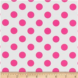 Riley Blake Laminated Cotton Dots Neon Pink
