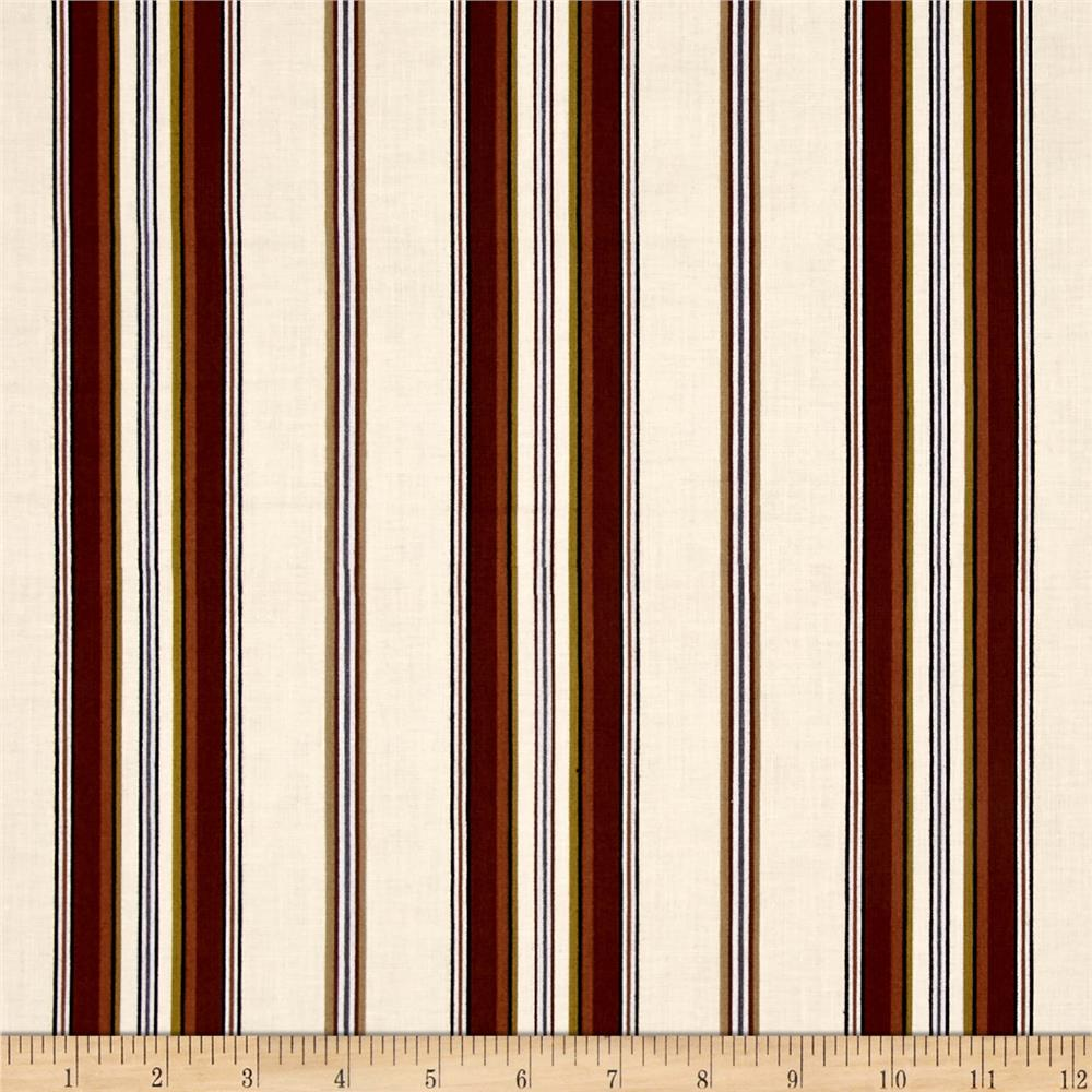 Mayfair Wide Stripe Ivory Natural