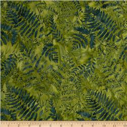 Timeless Treasures Tonga Batiks Firestorm Ferns Spruce