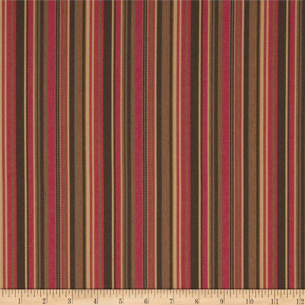 Sunbrella Outdoor Dorsett Stripe Cherry
