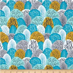 Cloud 9 Organic First Light Spring Woodland Turquoise