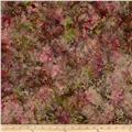 Bali Batiks Handpaints Leafy Damask Carnation