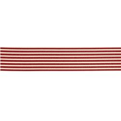 "May Arts 1 1/2""  Grosgrain Stripes Ribbon Spool Burgundy/Ivory"