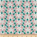 Massachusetts State Flower Mayflower Green/Pink/White