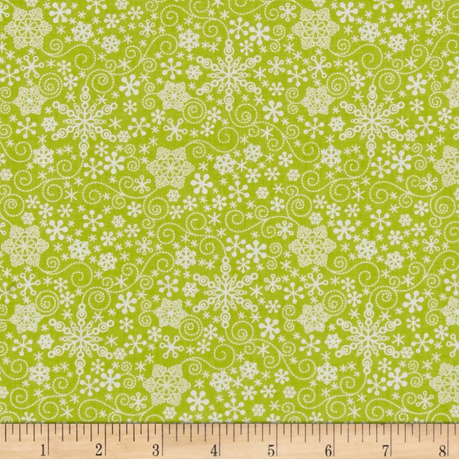 Contempo Mulberry Lane Snowflake Lime