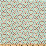 Smitten Lacy Hearts Light Aqua