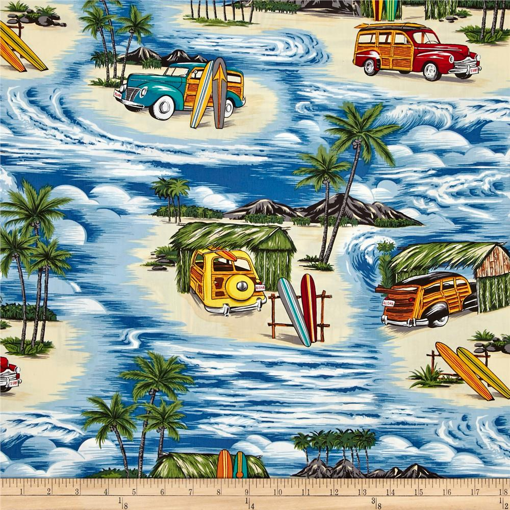 Hoffman Tropical Collection Retro Car Blue