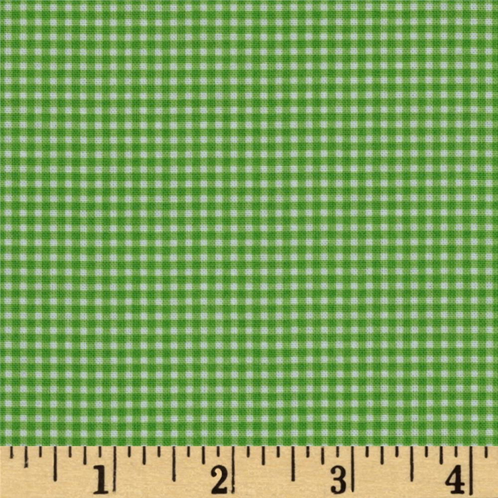 Michael Miller Mini Mikes Tiny Gingham Kiwi