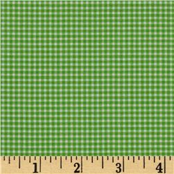 Michael Miller Mini Mikes Tiny Gingham Kiwi Fabric