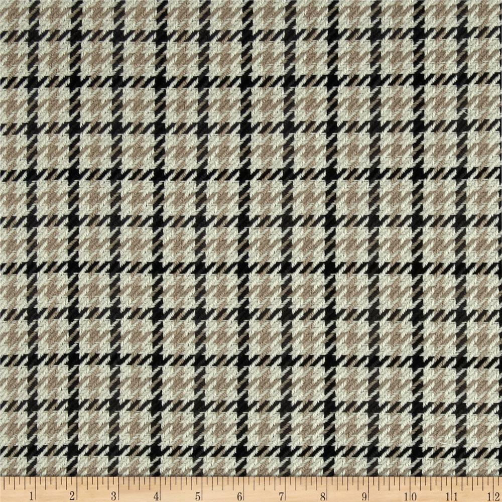 P Kaufmann Baker's Street Houndstooth Upholstery Charcoal