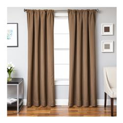 "Sunbrella 96"" Solid Rod Pocket Outdoor Panel Cocoa"