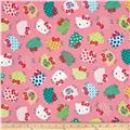 Kokka Hello Kitty Tossed Kitty Pink