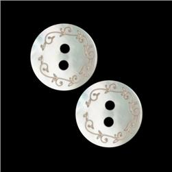 Genuine Shell Button 5/8''  Lacy Shell White