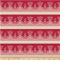 Riley Blake Raspberry Parlour Lace Red Fabric