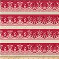 Riley Blake Raspberry Parlour Lace Red