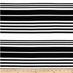 Onyx Ponte Knit Multi Stripes White/Black Fabric