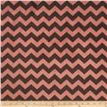 Riley Blake Dreamy Minky Medium Chevron Tone on Tone Brown