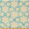 HGTV Home Boho Lattice Embroidered Glacier