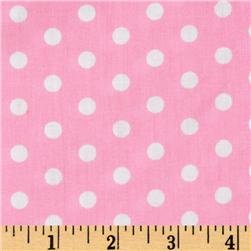 Forever Small Polka Dot Pink Fabric