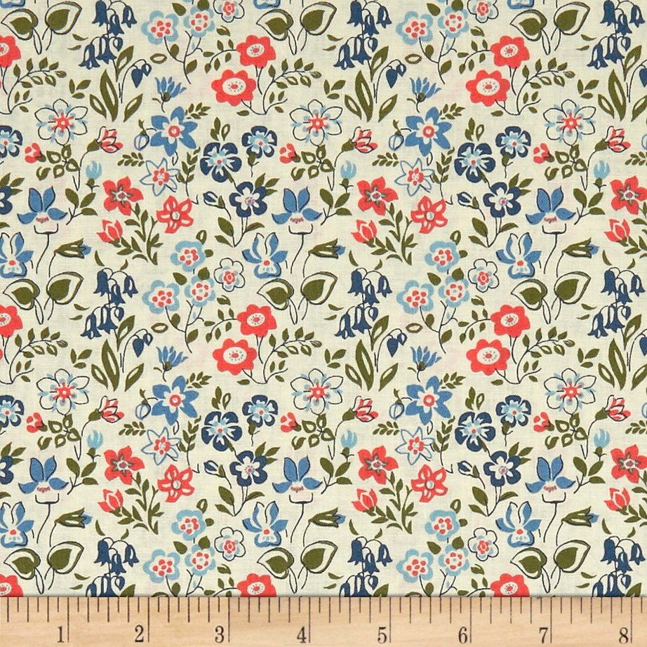 INOpets.com Anything for Pets Parents & Their Pets Liberty Fabrics The Cottage Garden Lawn Games Blue Pink Green