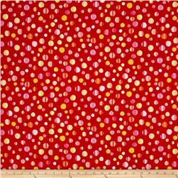 Kanvas Patio Splash Rainbow Dot Red