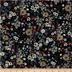 Corduroy flowers White/Pink on Black
