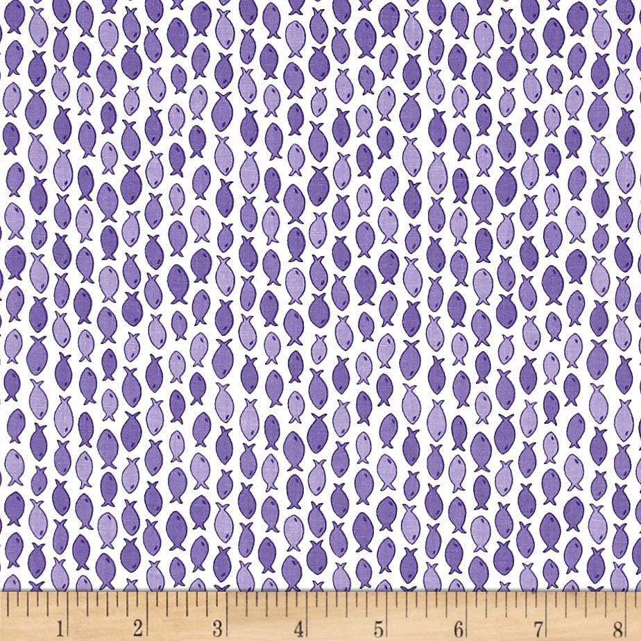 Moda rainy day gone fishing pouring purple discount for Fish fabric for quilting